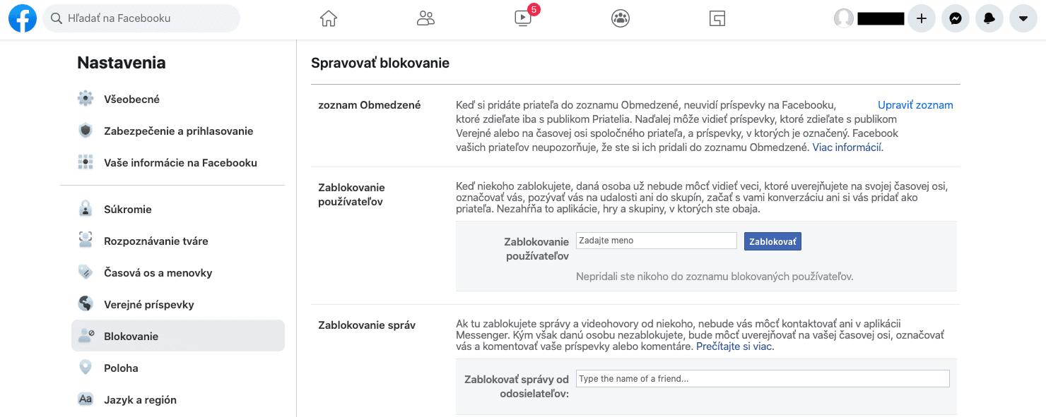 zablokovanie osoby facebook