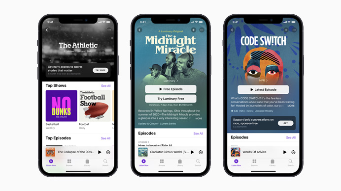 apple podcast 2021